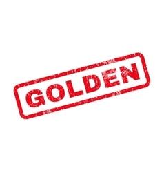 Golden text rubber stamp vector