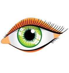 Green womans eye vector