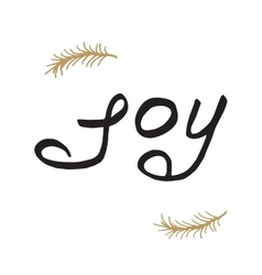Greeting card - joy Merry Christmas background vector image