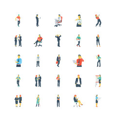 Human color icons 8 vector