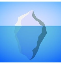 Iceberg on water vector