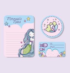 Mermaids printable sheet vector