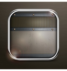 Metal square border icon vector