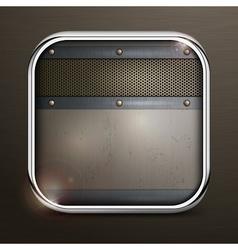 Metal square border icon vector image
