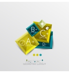 Modern abstract geometric info banner vector image vector image