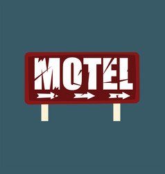 motel retro street signboard vintage banner vector image vector image