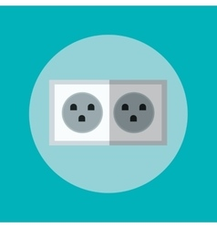 Plug inside circle design vector
