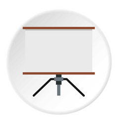 Presentation screen icon circle vector