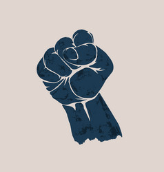 raised up clenched fist vector image vector image