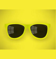 Realistic yellow sunglasses vector