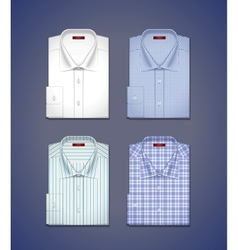 set of a classic shirts vector image vector image