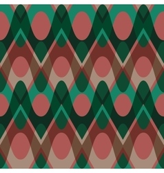 Simple christmas scalloped circle seamless pattern vector