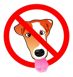 Stop dog vector