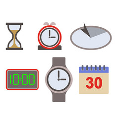 time icon asset vector image vector image