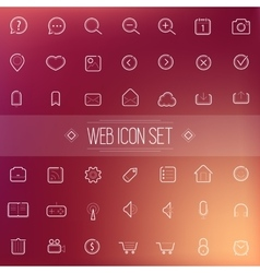 Trendy Line Icons Web Mobile Applications vector image