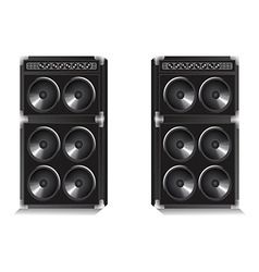 Two large speakers vector image