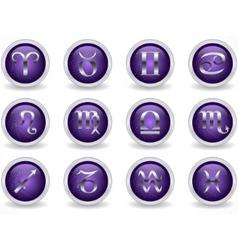 zodiac buttons vector image vector image