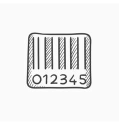 Barcode sketch icon vector