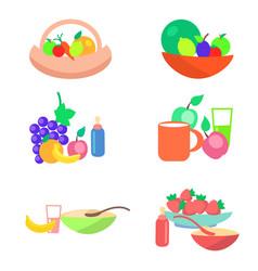 Kids healthy ration flat concept vector