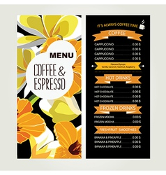 Cafe menu template design vector