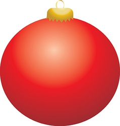 Red ball ornament vector