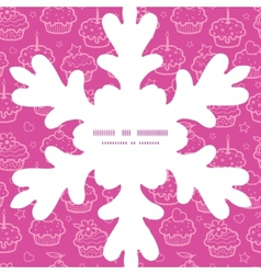 colorful cupcake party Christmas snowflake vector image