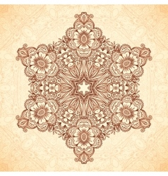 Decorative star mandala in indian mehndi style vector