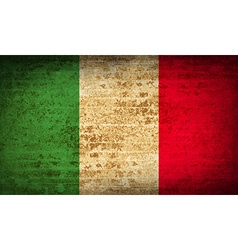 Flags italy with dirty paper texture vector