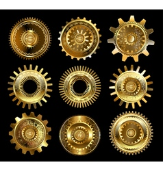 Set of complex gears vector