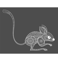 Hand drawn zentangle mouse totem for adult anti vector