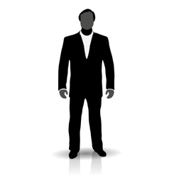 Silhouette of man in suit vector