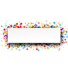 Banner with color drops vector