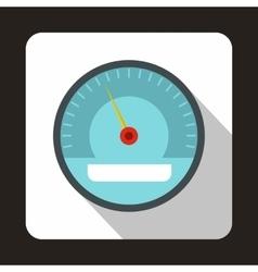Electronic speedometer icon flat style vector