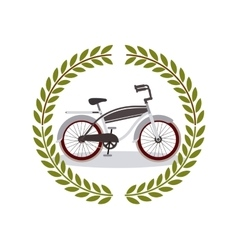 Bicycle frame isolated icon design vector
