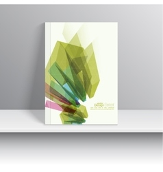 Magazine cover with colored crystals vector