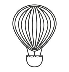 balloon air basket flying icon vector image