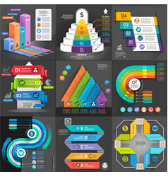 Business infographic template set vector image vector image