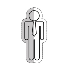 Businessman silhouette isolated icon vector