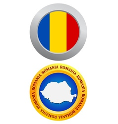 button as a symbol ROMANIA vector image