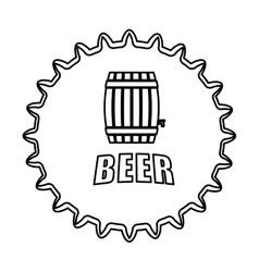 Contour beer cap emblem icon image vector