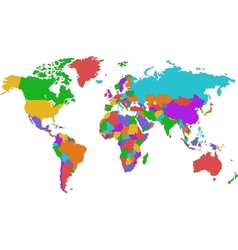 Corolful world map vector