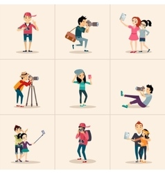 creative character design posing while vector image vector image