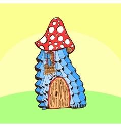 Fairy cartoon doodle style ornamental colorful vector image