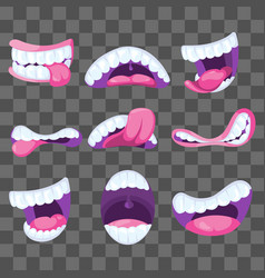 funny comic mouths expressing different vector image vector image
