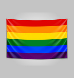Hanging flag of lgbt tolerance concept vector