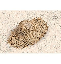 Hat on the beach vector