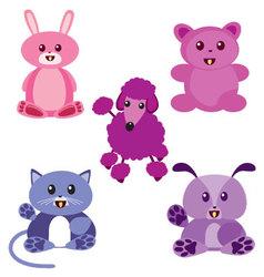 kawaii animals vector image vector image