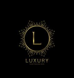 luxury quality label vector image