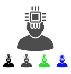neuro interface flat icon vector image