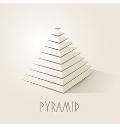 Pyramid shape abstract symbol vector